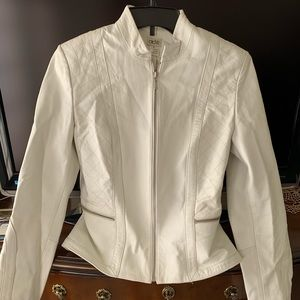 Cache off white 100% leather jacket